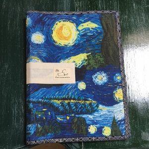 Other - Linen starry night notebook